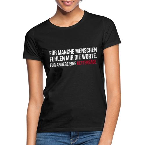 PSYCHO-Edition: Kettensäge Shirt - Frauen T-Shirt