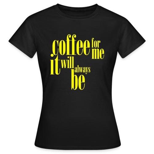 whatsinthemug, yellow - Women's T-Shirt