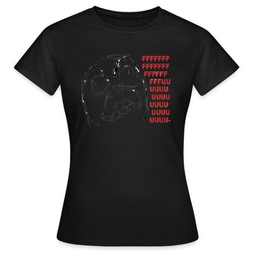 Rage guy Fuuu rage comics - T-shirt Femme