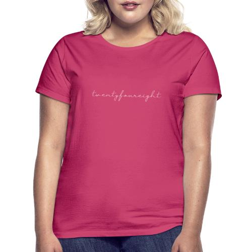twentyfoureightWIT bewerkt 1 - Vrouwen T-shirt