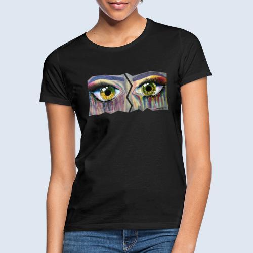 "Augenblick ""open eyes"" made in Berlin - Frauen T-Shirt"