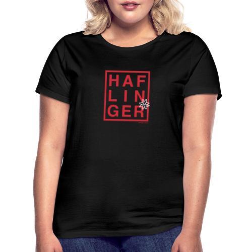 Haflinger Schriftzug / Pferd - Frauen T-Shirt