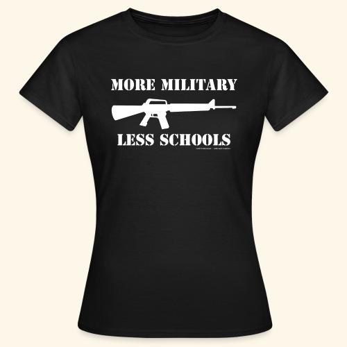 MORE MILITARY - LESS SCHOOLS - Frauen T-Shirt