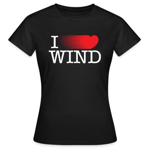I LOVE WIND Black - Camiseta mujer