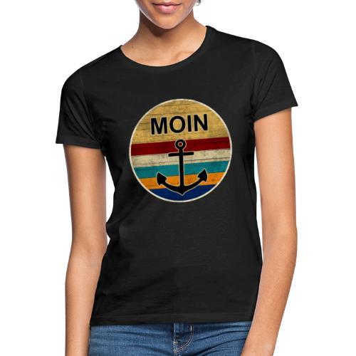 Moin Anker Retro - Frauen T-Shirt