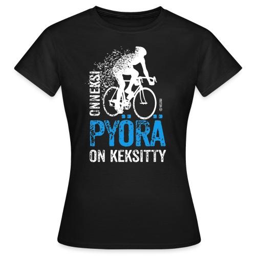 Onneksi pyörä on keksitty - Road bike w - Naisten t-paita