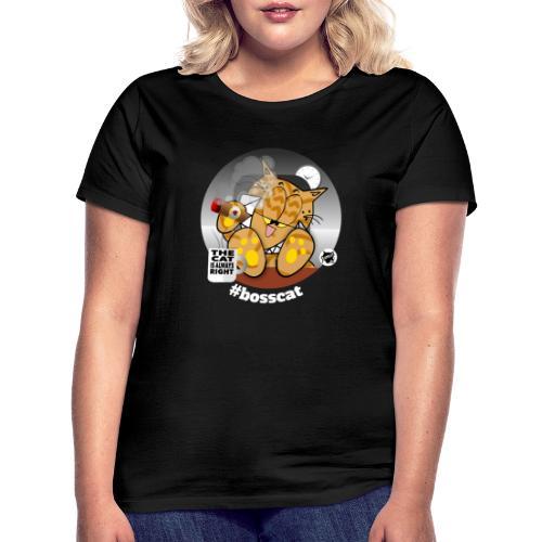 bosscat dunkel - Frauen T-Shirt
