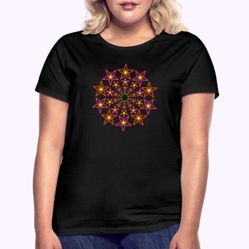 fractal estrella 3 color neón - Camiseta mujer