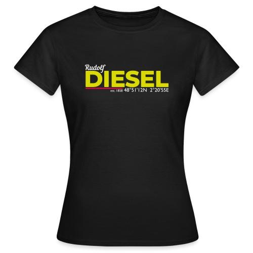 Rudolf Diesel geboren in Paris I Dieselholics - Frauen T-Shirt