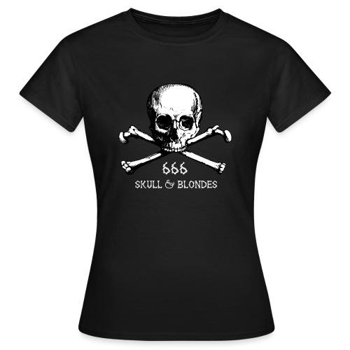 skull & blondes (white) - Frauen T-Shirt