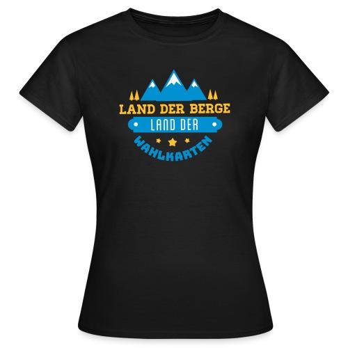 Land der Berge Land der Wahlkarten - Frauen T-Shirt