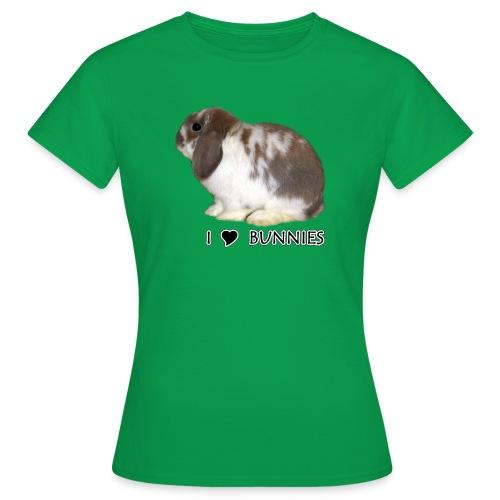I Love Bunnies Luppis - Naisten t-paita