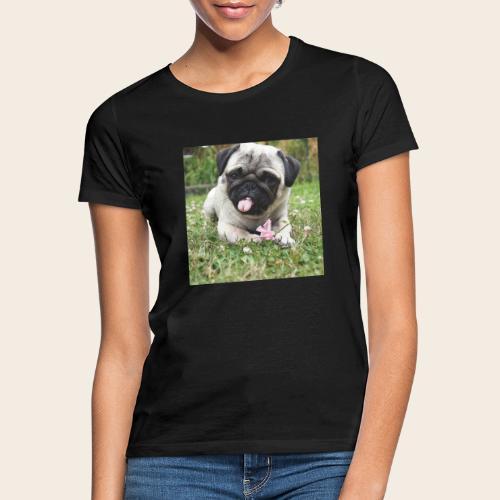 Mops Wiese - Frauen T-Shirt