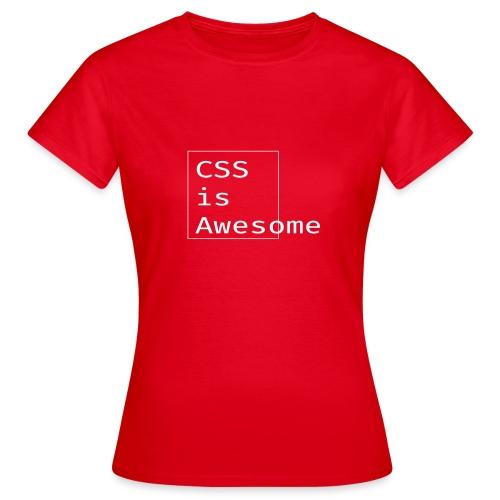 cssawesome - white - Vrouwen T-shirt