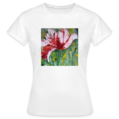 tulp met pallet mes - Vrouwen T-shirt