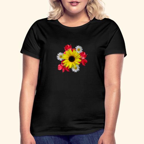 Blumenstrauß, Sonnenblume, Margeriten, rote Blumen - Frauen T-Shirt