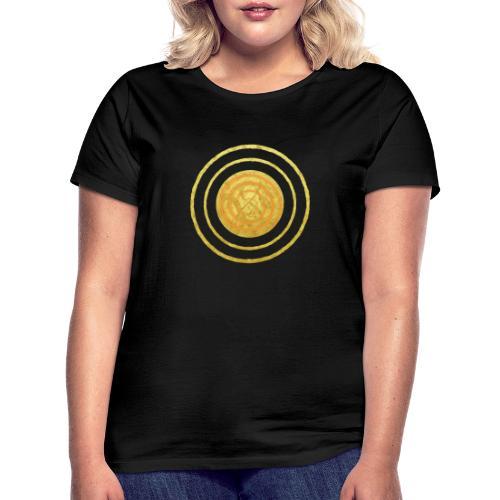 Glückssymbol Sonne - positive Schwingung - Spirale - Frauen T-Shirt