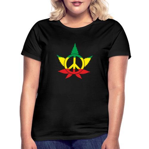 Peace färbig - Frauen T-Shirt