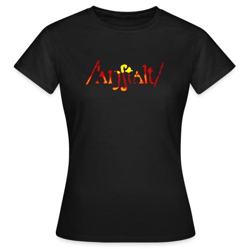 /'angstalt/ logo gerastert (flamme) - Frauen T-Shirt