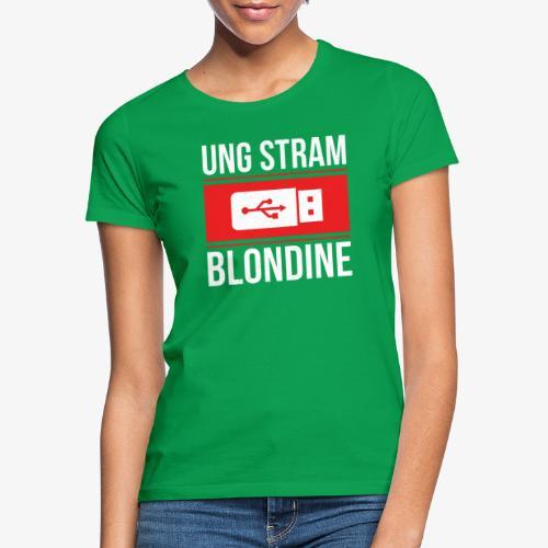 Ung Stram Blondine - Hvid - Dame-T-shirt