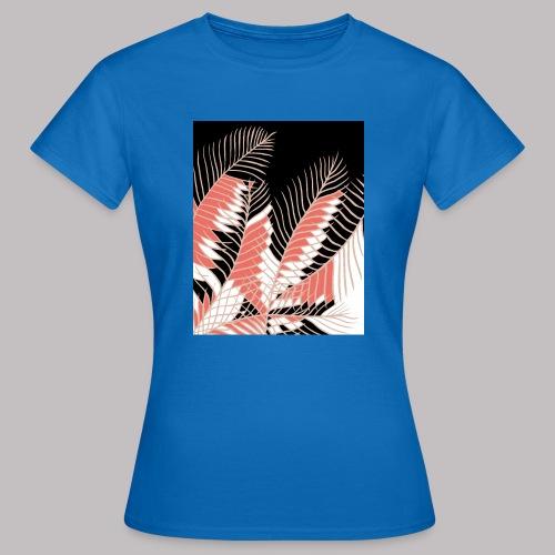 foglie palma 3 living coral - Maglietta da donna