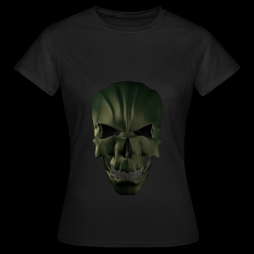 Grim Skull 3D - Koszulka damska