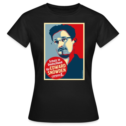 Motiv Snowden Obama SPREADSHIRT 01 jpg - Frauen T-Shirt