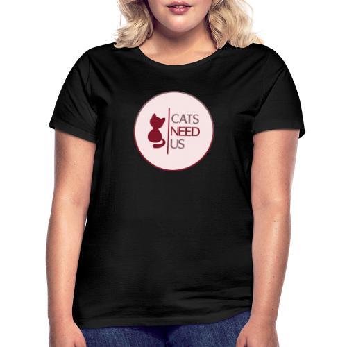 Logo Cats Need Us - Frauen T-Shirt