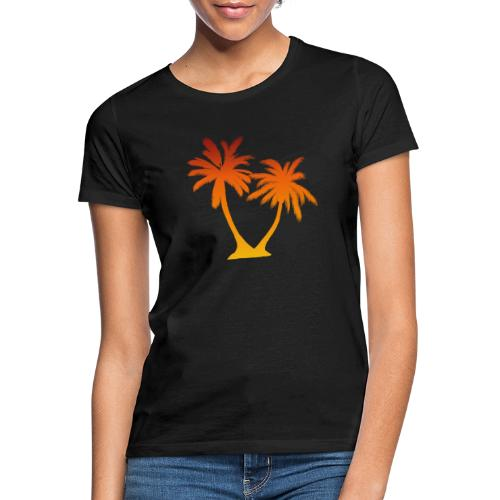Palm Boom Zonsondergang - Vrouwen T-shirt
