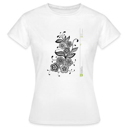 diseño de flores - Camiseta mujer