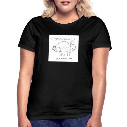 Taiteellinen pupu - Naisten t-paita