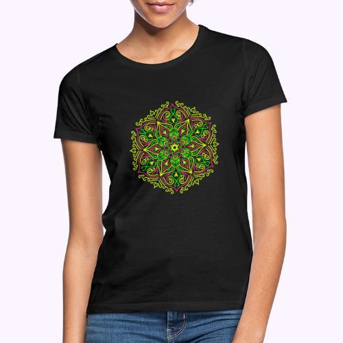 Brann Lotus Mandala - T-skjorte for kvinner