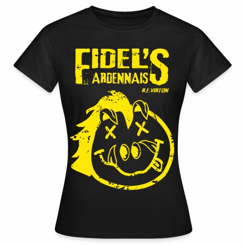 T SHIRT NIRVANA VERSION FIDEL png - T-shirt Femme