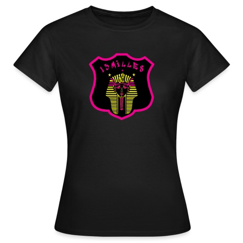 Pharaon Noir, Rose, Jaune hyper design - T-shirt Femme