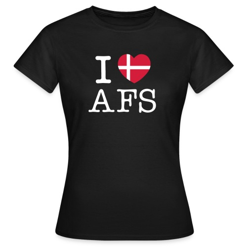 i love afs flag - Dame-T-shirt