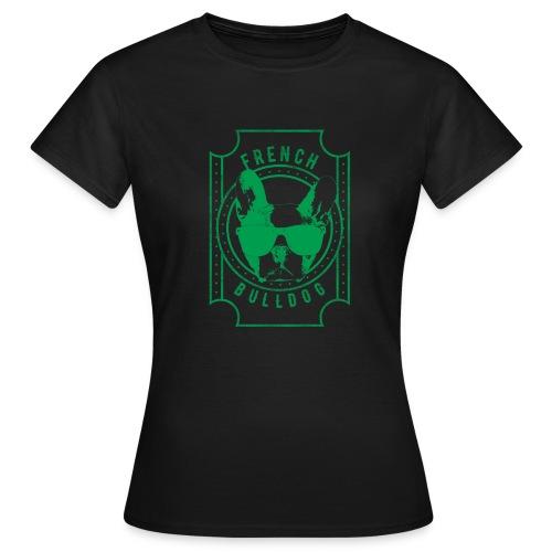 Franse Bulldog groen - Vrouwen T-shirt