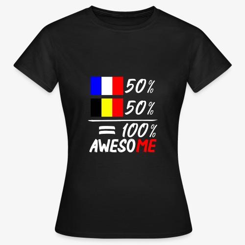 50% Frankreich 50% Belgien - Frauen T-Shirt