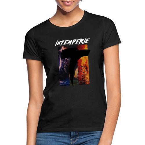 intemperie logo tres estragos fondo negro - Camiseta mujer