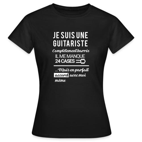 tshirt femme je suis une guitariste - T-shirt Femme