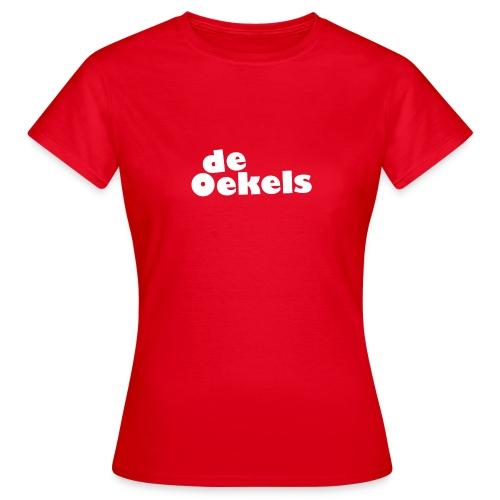 DeOekels t-shirt Logo wit - Vrouwen T-shirt