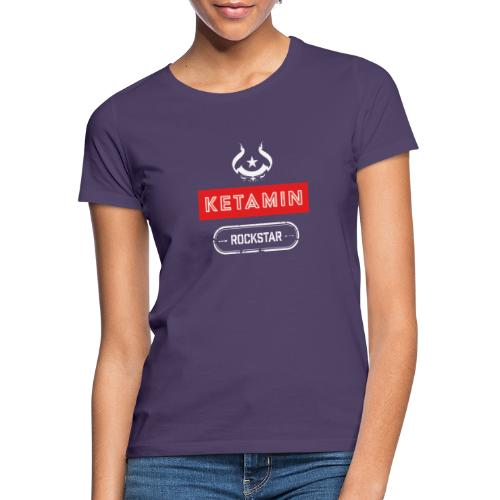 KETAMIN Rock Star - White/Red - Modern - Women's T-Shirt
