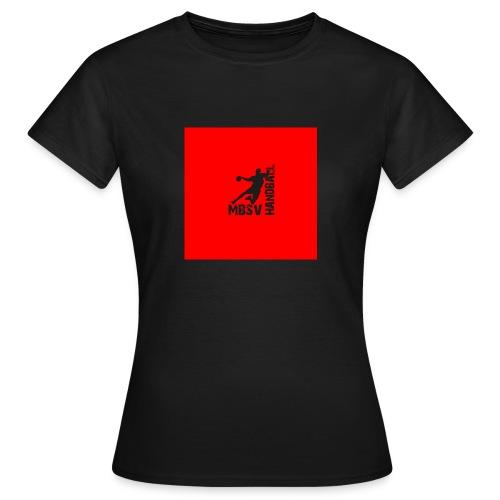 Rot mit Handballer - Frauen T-Shirt