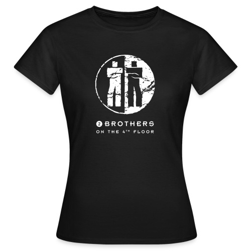 2 Brothers White text - Women's T-Shirt