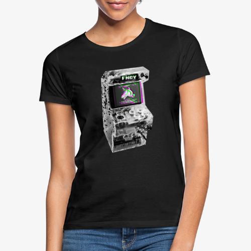 FNCY UNICORN RETRO ARCADE - Frauen T-Shirt