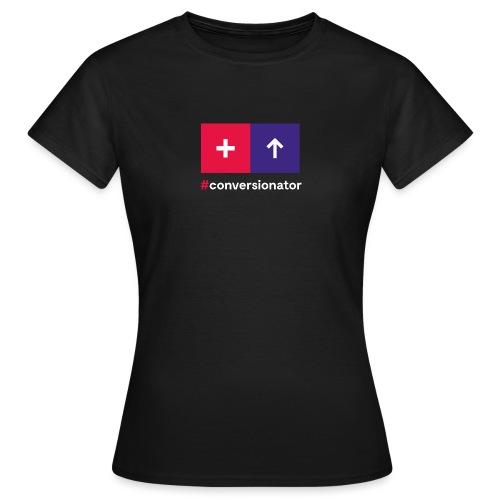 Conversionator mit Plus & Pfeil - Frauen T-Shirt