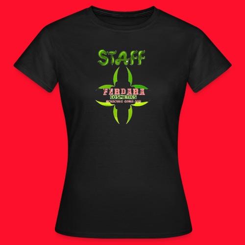 logo_de_ferdara_cosmetics_veracruz_zona_sur. - Camiseta mujer