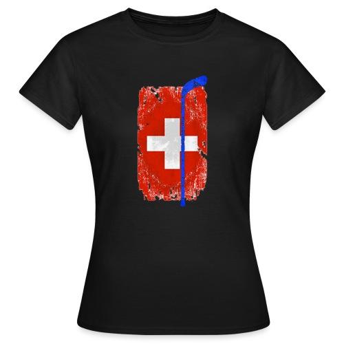 Schweizer Flagge Hockey - Frauen T-Shirt