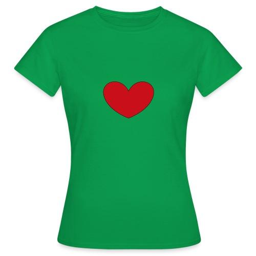 hjerte png - Dame-T-shirt