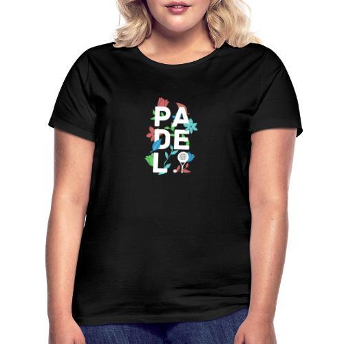 Padeltennis minimalism design med blommor & växter - T-shirt dam