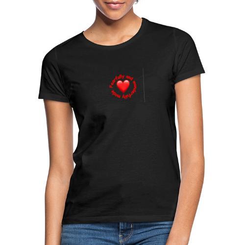 coeur rouge - T-shirt Femme